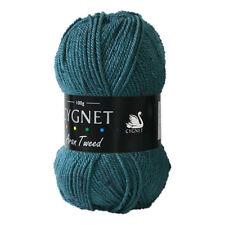 NEW | Cygnet C1012/7511 | Aran Tweed Knitting Wool Teal 100g | FREE SHIPPING