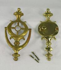 Schlage Brass Door Knocker with Peep Hole #36-004 CAV 605 Pre-Owned