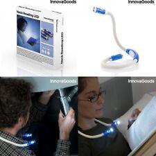 Luz de 4 LED de leer para Cuello 2x56 cm, flexible y adaptable, ideal de noche