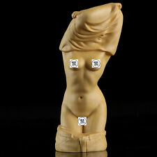 Boxwood Wood Carving Sexy Woman Lady Hand-Carved Lover Gift Sculpture Collection