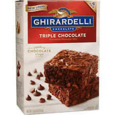 Ghirardelli Triple Chocolate Brownie Mix Semi-sweet Milk Bittersweet 120 Ounce