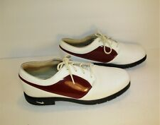 Nike Air Women's White/Red Verdana Last Oxford Golf Shoes-Sz 7.5M/Eur 38.5