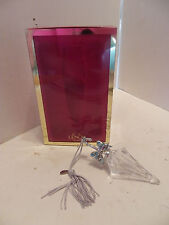 Mib Lenox crystal ornament Parasol Pave Jewels Germany Umbrella 2000 Glass