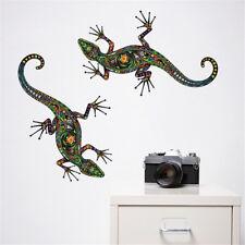 Wandtattoo bunte Blumenmuster Gecko Wandaufkleber für Kinderzimmer Wohnkultur