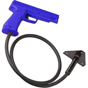 BLUE Happ 45 Cal. Optical Arcade Game Gun Area 51 Virtua Cop Police Trainer etc.