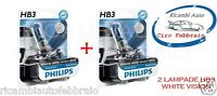 LAMP KIT 2 LAMPADE LAMPADINE PHILIPS HB3 WHITE VISION INTENSE WHITE XENON EFFECT