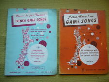 2x Teaching Books By Ruth De Cesare French/Latin American Game Songs c1960 PB GC