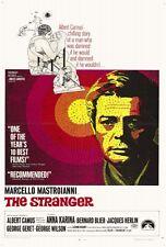 THE STRANGER Movie POSTER 27x40 Marcello Mastroianni Anna Karina Bernard Blier
