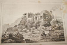 TURQUIE CHATEAU DE BROUSSE 1840 GRAVURE PRINT  T17