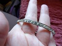 PRETTY FULL CRYSTAL SET SOLID CHROMED BANGLE