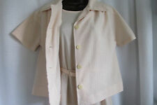 """Vintage """"Bleeker Street"""" 2 Piece Dress/Jacket/Pale Peach/Waist 29""""X27""""Skirt/Eu c"""
