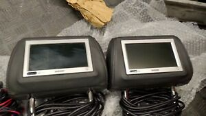 Sony 2x XVM-H65 with remote RM-X122 and XA-113 mounted on Audi headrest
