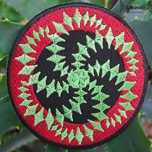 AUFNÄHER PATCH goa psy hippie elfen om Spiral mandala 1