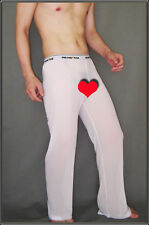 Pantalon sheer taille M blanc totale transparence sexy neofan Ref M02 gay inte
