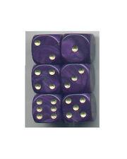 Dice Set of 6 D6 (16mm) - Pearl Purple