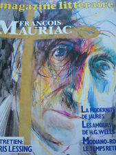 MAGAZINE LITTERAIRE 1985 No 215 MAURIAC / JAURES H.G. WELLS MODIANO LESSING