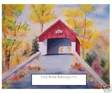 Bookplates,Covered Bridge,Waterclr,educational gift