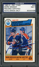 1983-84 O-Pee-Chee #23 Mark Messier Auto PSA/DNA NM 7