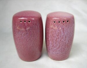 VINTAGE Frankoma Pottery Plainsman Salt and Pepper Shakers in Rare Red Bud
