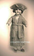 Vintage MADAME DOLLIE outfit  doll knitting pattern 1918