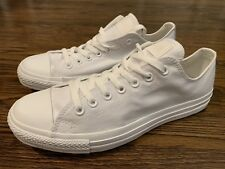NEW Converse Leather All Star Chuck Taylor PURE White M 10 W 12 unisex Low Top