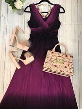 Phase eight size 10 pink purple dip dye maxi dress vgc party celebration