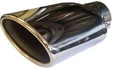 Jaguar XF 125X200MM OVAL EXHAUST TIP TAIL PIPE PIECE CHROME SCREW CLIP ON