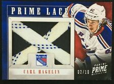 2012-13 PANINI PRIME - CARL HAGELIN - PRIME LACES #02/10 -  GAME WORN - RANGERS