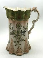 "Large Antique Blossom F & Sons Pitcher Jug Collectable 9"" Inch Tall <CA03"