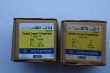 SQUARE-D 9070 E0-1 TRANSFORMER (Lots of 2)