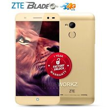 """New Unlocked ZTE Blade V7 Lite Gold 5"""" IPS Quad Core 4G LTE Android Cell Phone"""