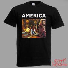 America America Album Rock Band Men's Black T-Shirt Size S M L XL 2XL 3XL