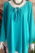 Elegant long sleeves signature blouse for plus size ( pre-loved)