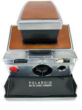 Polaroid SX-70 Original Vintage Instant Chrome SLR Land Camera Leather Finish