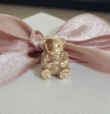 Genuine Unused Pandora 14ct Gold Teddy CHARM 750462