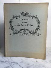 Catalogue des Objets d'art Collection de Madame André Saint 1935