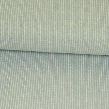 0,5m Leinenstoff Streifen Weiß Rosa Grau Blusenleinen Meterware
