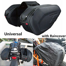 Universal Motorcycle Saddle Bags Luggage Pannier Bags 36-58L 6KG with Rain Cover