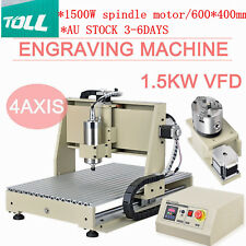 4Axis 6040 CNC Router Engraver 1500W Desktop Engraving Milling DrillING Machine