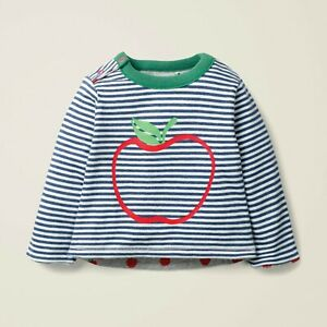 Baby Boden REVERSIBLE Long Sleeve Apple Print T-Shirt Top 0-3 Mths up to 3-4 Yrs