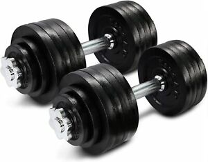 Yes4All Adjustable Dumbbell Weight Set Of 2 (2x25lbs (50lbs Total)) In Hand!