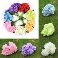 6 Köpfe Künstliche Hortensie Blumen Kunstblumen Hochzeit Brautstrauß Deko Party