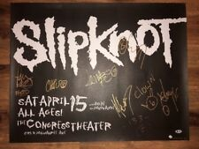 9) Slipknot Taylor Jordison Thomson + Authentic Signed 24x28 Poster BAS Beckett