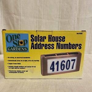 Solar House Address Numbers