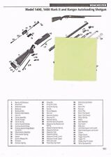 WINCHESTER  141 RIFLE, 1400, RANGER SHOTGUN Exploded View/Parts List 2011 Ad