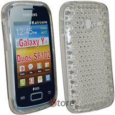 Cover Custodia Per Samsung Galaxy Y Duos S6102 Silicone Gel Trasparente Diamond