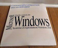 Microsoft Windows 3.11 Full Version French - NEW SEALED W/ COA