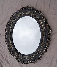 Cadre d'image OVALE OR NOIR baroque avec verre de protection 58x68 transparent