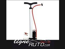 Pompe velo a pied acier + manometre pneumatique vtt cyclisme matelat camping