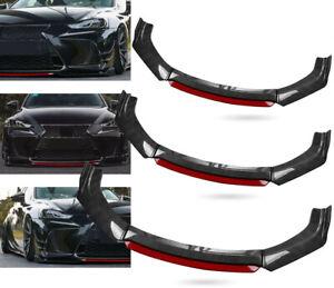 Carbon Fiber Front Bumper Red Lip Splitter Spoiler For LEXUS IS200T IS250 IS350
